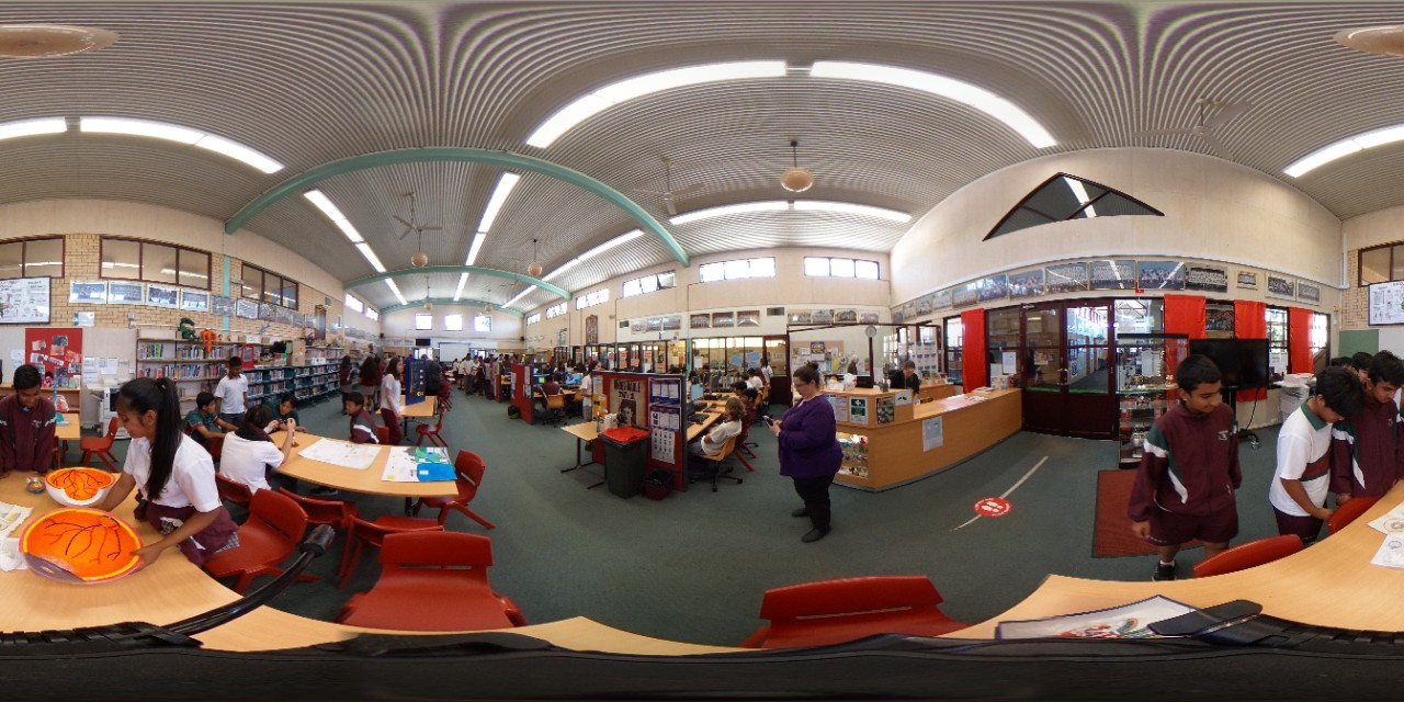 360 degree image of the science showcase